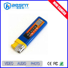 Besnt high quality all types hidden camera Lighter mini camera portable lighter mini camera with sd memory card BS-730