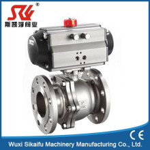 DN150 stainless steel air operated ball valve with actuator for industry
