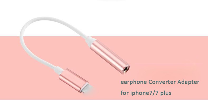 Earphone Headphone Cable Adapter for iPhone IOS Interface to 3.5mm Female Jack Aux Audio