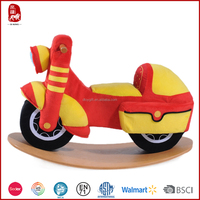 Playful plush rocker toy motorcycle funny toys for kids