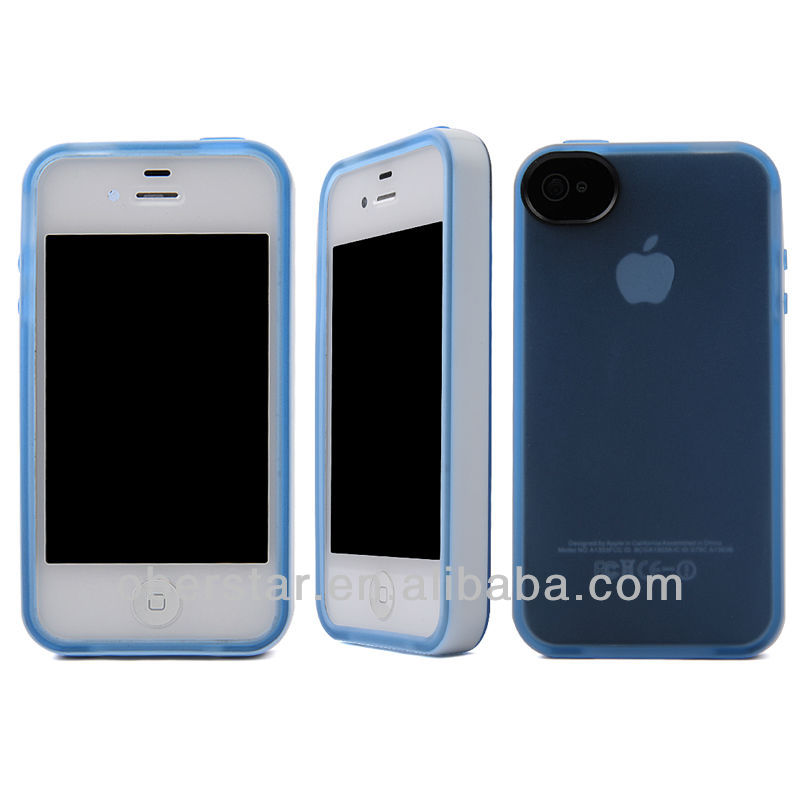 White Silicon Bumper For Apple iPhone 4 4S 4G Crystal TPU Back Cover Skin Hard Case