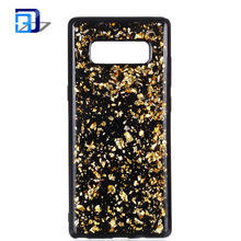 Newest design silicone tpu mobile phone back cover case shiny glitter 2 in 1 shockproof phone case for samsung galaxy note 8