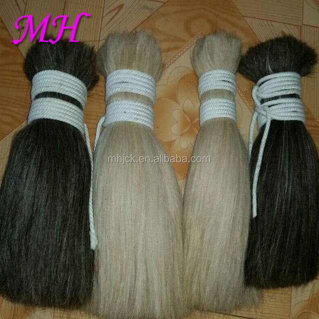 Raw High Quality Washed Goat Hair Bulk for Making wigs and Fake Hair Extension