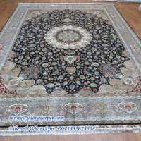 9x12ft blue large handmade quality silk buy persian rug