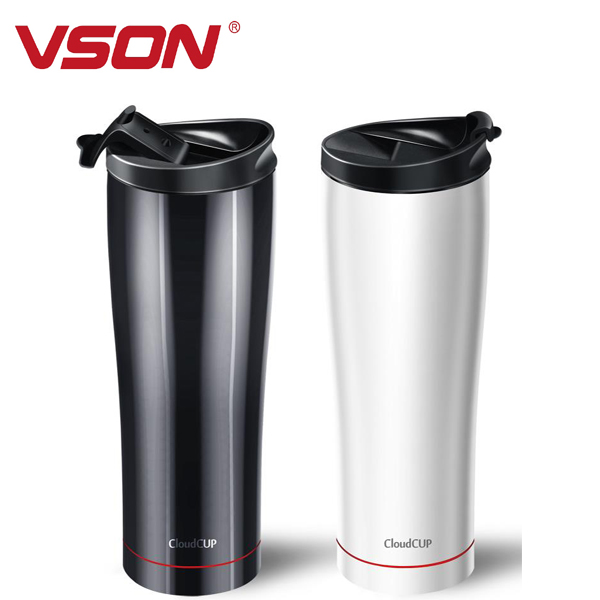 Double wall stainless steel vacuum tube cup inner copper stainless steel water bottle