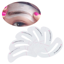 Wholesale 2017 cosmetic tool EVA eyebrow stencils shaping