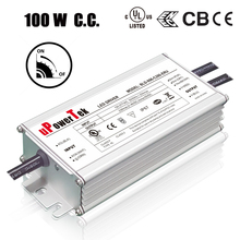 100W 120V 277V 7 year warranty IP67 Waterproof constant current dimmable LED driver with ENEC CB CE UL approved
