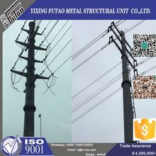 Quality galvanized 220kv double circuit steel power pole for transmission