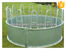 wholesale galvanized cattle livestock bale round hay feeder