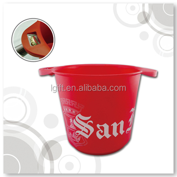 Plastic Ice Bucket with bottle opener