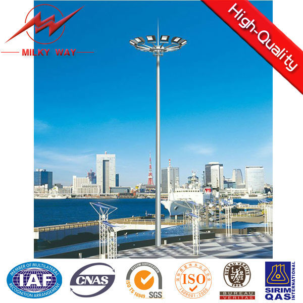 2015 best selling electric transmission line steel pole lighting
