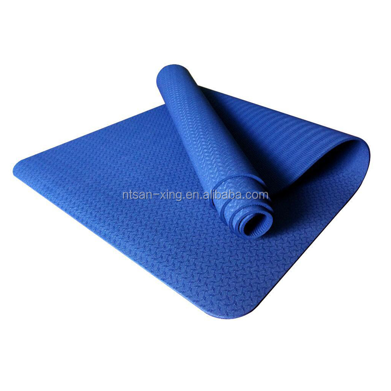 Professional supply any color cheap price 5mm yoga mat reversible