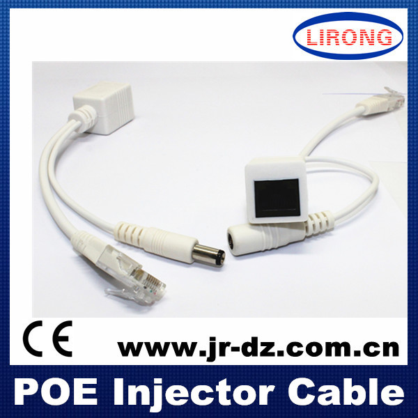 RJ45 connector 12v poe adapter injector IP camera cable
