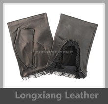 Cut Finger Short Spring Leather Gloves for Car Driving