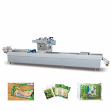 High quality continuing vacuum stretch film packing machine/bread stretch vacuum packing machine