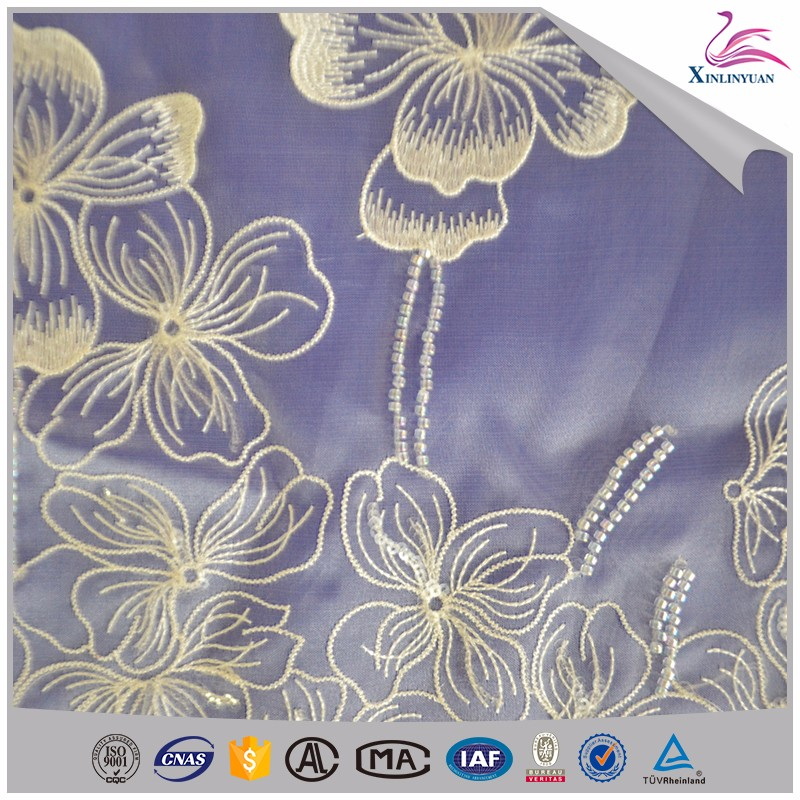 Top supplier bead embroidery designs for kaftan