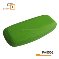 Cheap Green colorful PVC leather iron customized eyewear optical cases