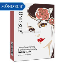 Deep Brightening Repairing Whitening Mond'sub Non-woven Facial Mask you can have your private lable