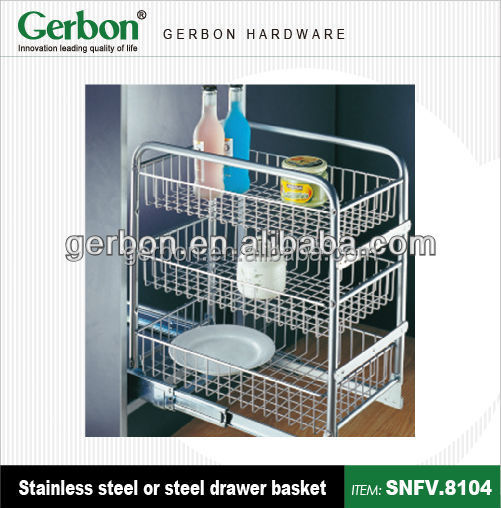 Modern kitchen 3 tiers storage basket