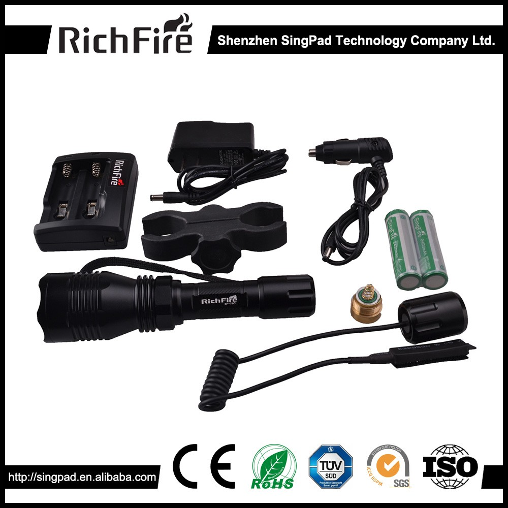 rechargeable led hunting torch light ,hunting torch lamp, red laser hunting torch light