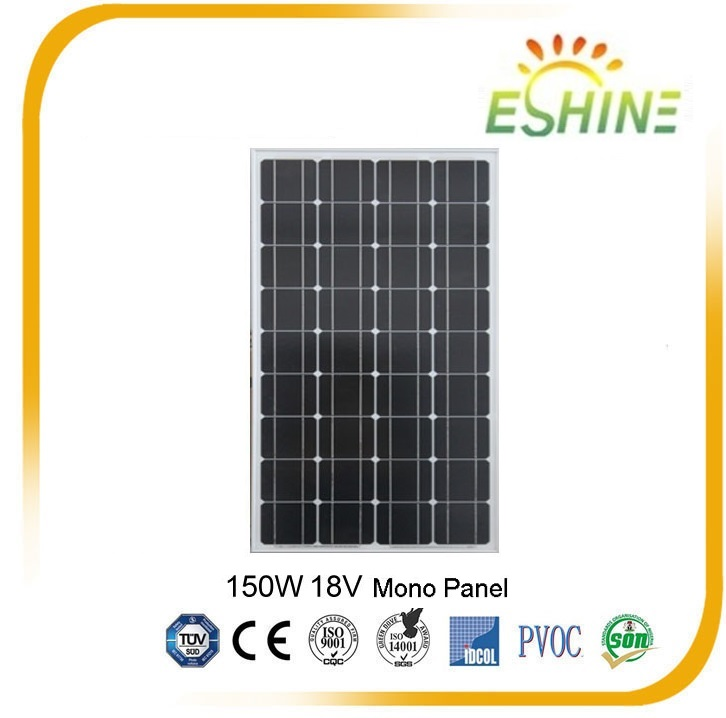 ES150-18-M High Efficient Mono And Poly 150 watt Solar Panel for Led Street Light Home Use