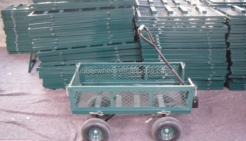 metal material folding moving wagon pallet dolly TC1840A