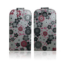 leather case for Samsung galaxy s3 i9300 flower design