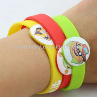 Custom Promotional gift Silicone Bracelet with CMYK printed logo