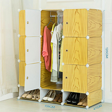 Wooden deisgn DIY foldable plastic living room wardrobe cabinet with shoe rack