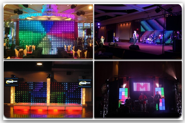 P10 led curtain mesh outdoor video full color led display