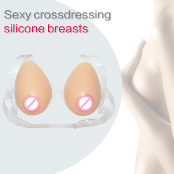 Soft Natural Realistic Sexy Silicone Breast Forms False Artificial Big Boobs Drag Queen