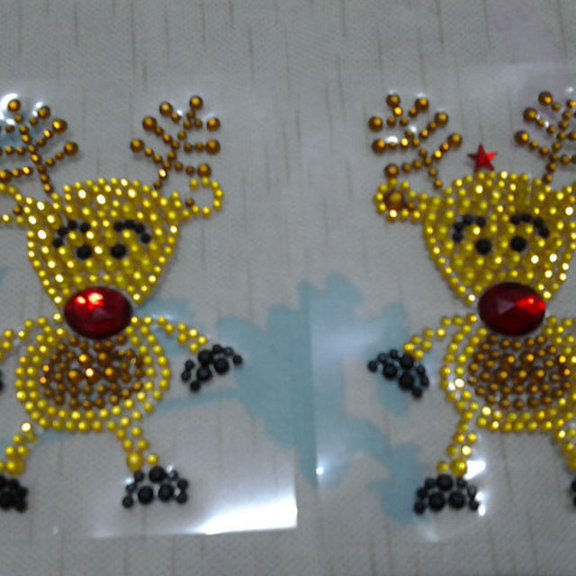 2013 christmas deer acrylic sticker,diamond sticker for window decoration,festive promotion and kids stick,wenzhou