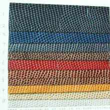 pu leather raw material with embossed snake skin for fashion bags and shoes making