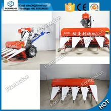 High efficiency 4gk100 walking tractor mini harvester/paddy rice reaper and handler