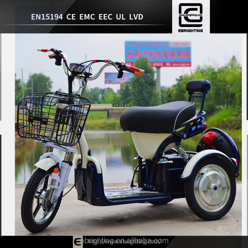 BRI-S10 48V 500W 20AH <strong>CE</strong> approved adult three big wheel electric zappy scooter with basket