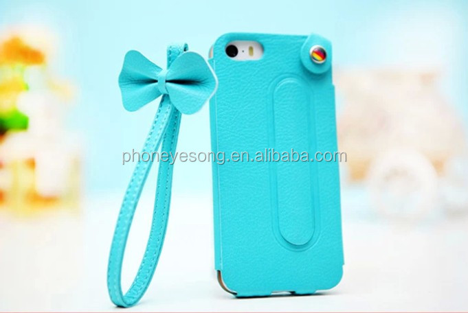 factory wholesale with sling leather case for iphone 5 5s