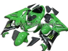 full motor fairing for 07-08 kawasaki zx6r ninja fairings body kits/bodywork/body frame cover green black