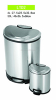 Apple stainless steel trash cans
