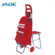 Hands bags supermarket shopping trolley plastic handle shopping cart with chair seat