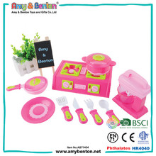 Professional plastic toy kids kitchen set