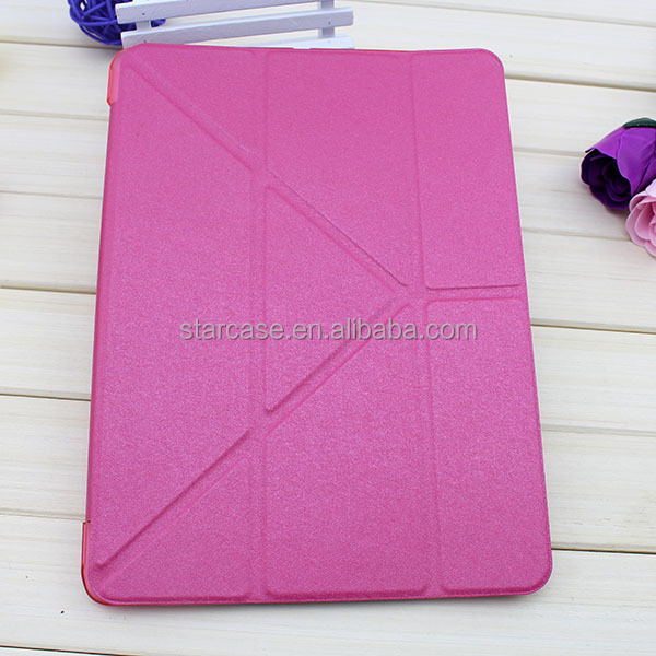 New Fashion For iPad 5 iPad 4 iPad 3 Folding cover Magnetic Leather case with Sleep function