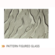Hot sale stained leaf pattern building patterned glass