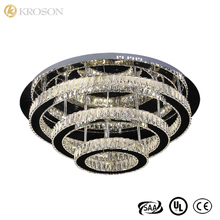 Round Three Rings Luxury Crystal Ceiling Light For Competitive Price