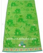 Yarn dyed jacquard velvet beach towel