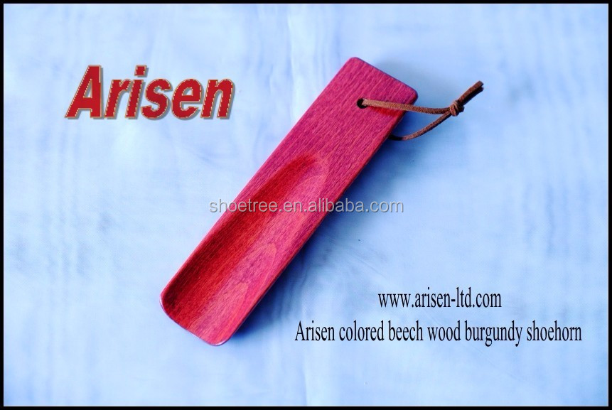 colored beech wood burgundy shoehorn