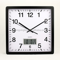 13 inch stylish decorative metal square quartz wall clock