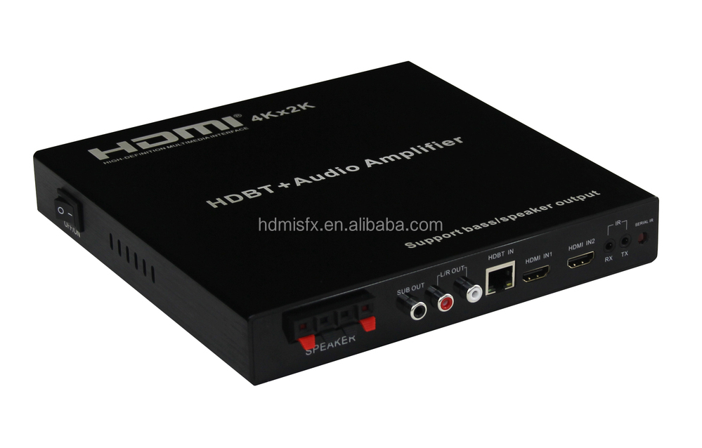 HDMI HDBT+ Audio Amplifier matrix 3x2 Support 4K, support UTP extend to 100m, hdmi matrix switch 3 in 2 out