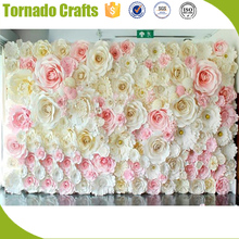 2017 Wholesale Amazing artificial pink white paper flower for wall wedding Decoration