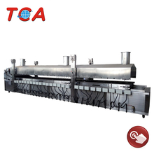 Continuous Gas Fish Frying Equipment