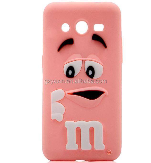Cheap Price Cute Silicone Cartoon Case for Samsung Galaxy G530 Cellphone Cartoon 3D Cover